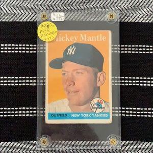 Mickey Mantle Baseball Card ⚾️ 1958 NY Yankees